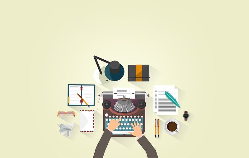 Writer Typing - Typewriter - Work Desk - Author