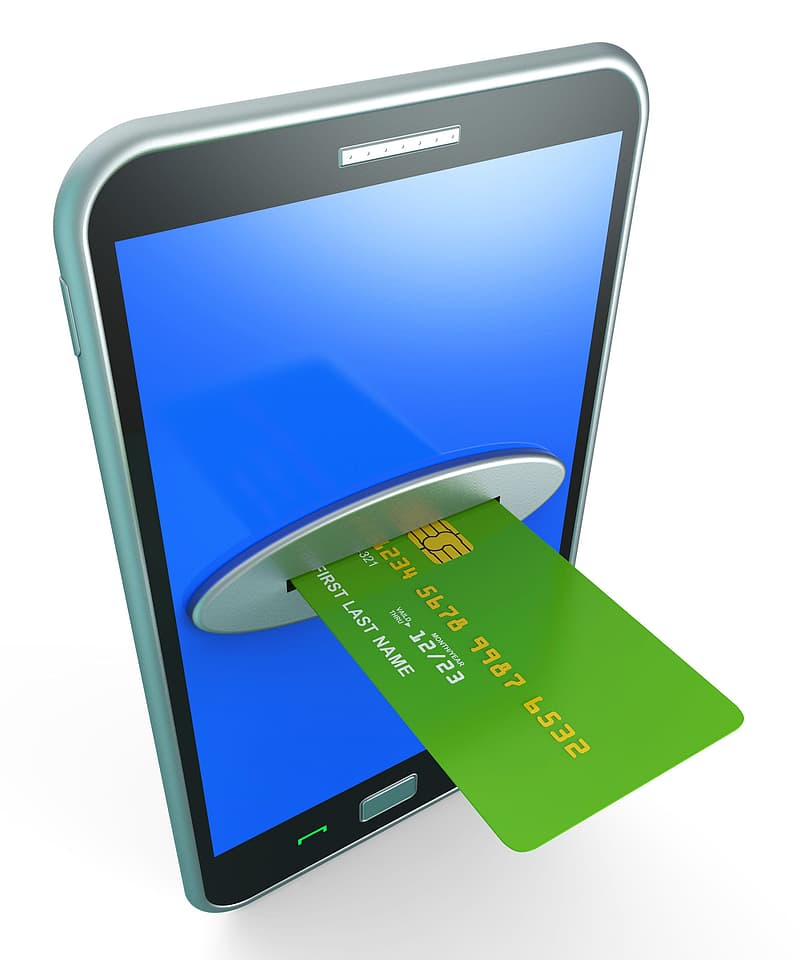 Credit Card Online Indicating World Wide Web And Website