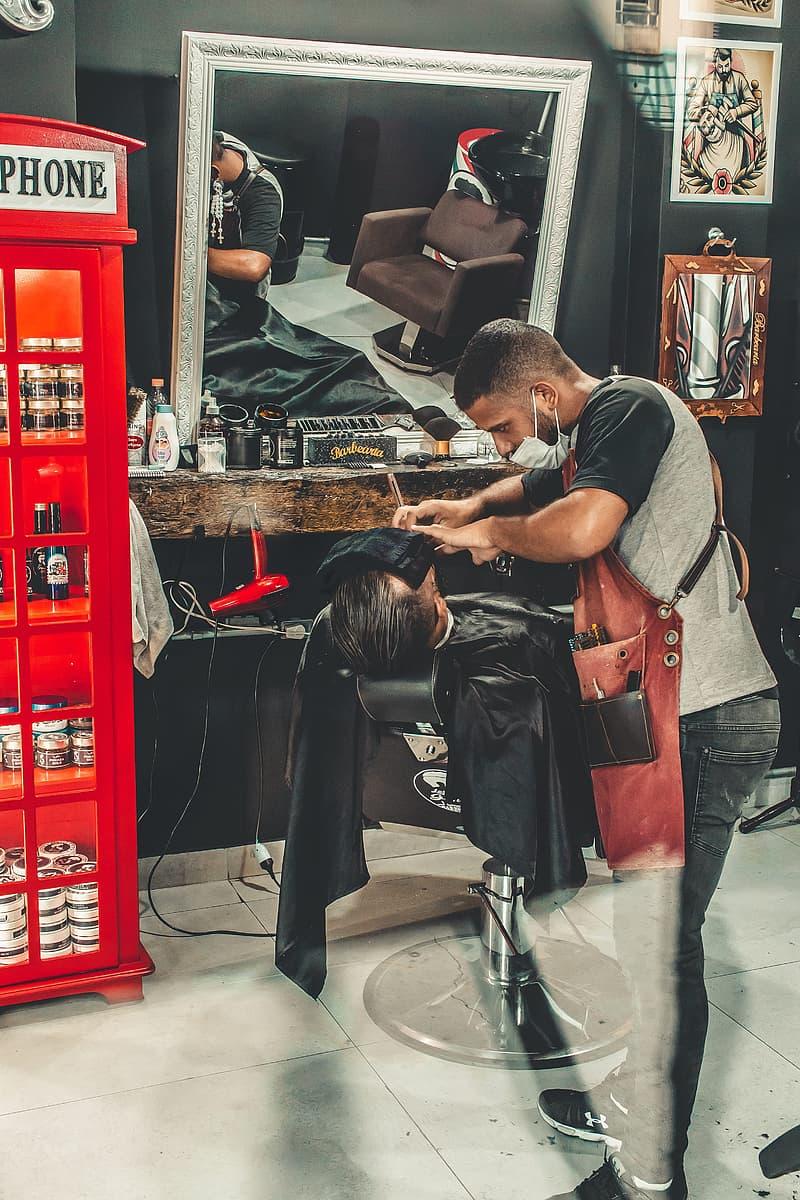Man Having His Haircut