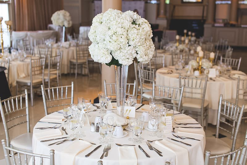 Tables With Flower Decors