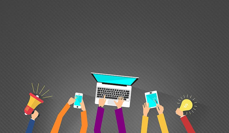 Digital Marketing - With Copyspace - Dark Version