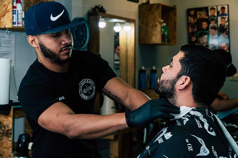 Barber Shaving His Costumer
